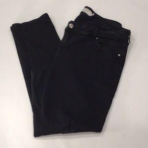 Torrid Black Wash Destruction Skinny Jean